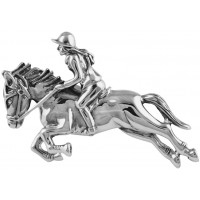 B436   Horse Racing Brooch Sterling Silver Ari D Norman